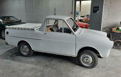 Bijzondere Daf pick-up wit uit 1970 65-06-NL
