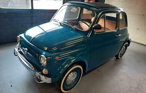 Fiat 500 L blauw 1970